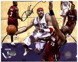 Vince Carter New Jersey Nets Autographed 8'' x 10'' Action Photograph - Mounted Memories