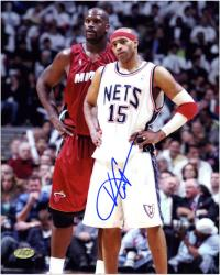New Jersey Nets Vince Carter Autographed Photo - - Mounted Memories