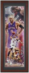 Toronto Raptors Vince Carter Unsigned Framed Panoramic Photo - Mounted Memories