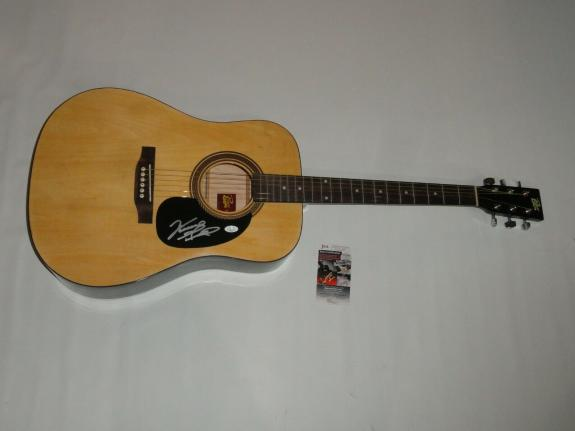 Vince Gill Signed Full-size Natural Acoustic Guitar Country Proof Jsa Coa