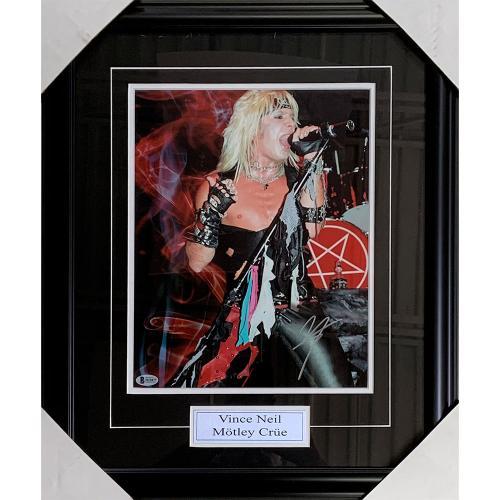 Vince Neil Framed Autographed 11X14 Photo