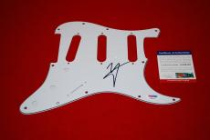 VINCE NEIL motley crue front man fender signed PSA/DNA  pic pick guard 1 proof