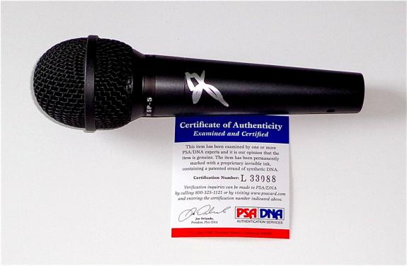 Vince Neil Motley Crue Signed Microphone Psa Coa L33088