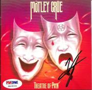 Vince Neil MOTLEY CRUE Signed Theatre Of Pain Crucial Crue CD Album PSA/DNA COA