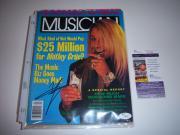 Vince Neil Motley Crue Singer Jsa/coa Signed Musician Magazine