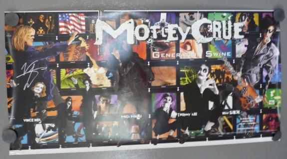 Vince Neil Motley Crue Swine 15x30 Signed Autographed Poster Beckett Certified