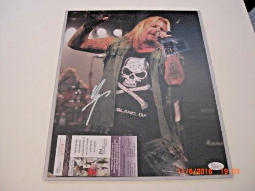 Vince Neil Motley Crue,famous Singer Pic 2 Jsa/coa Signed 11x14 Photo