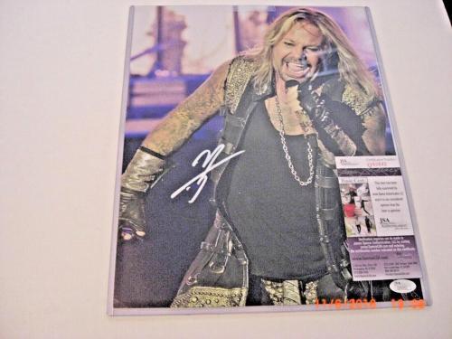 Vince Neil Motley Crue,famous Singer Jsa/coa Signed 11x14 Photo