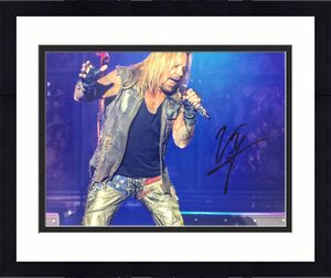 Vince Neil signed 11x14 photo Motley Crew Beckett witnessed Rock & Pop music p1