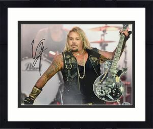 Vince Neil signed 11x14 photo Motley Crew Beckett witnessed Rock & Pop music p3