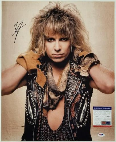 VINCE NEIL Signed 16x20 Photo #2 Motley Crue Vocalist Autograph ~ PSA/DNA COA
