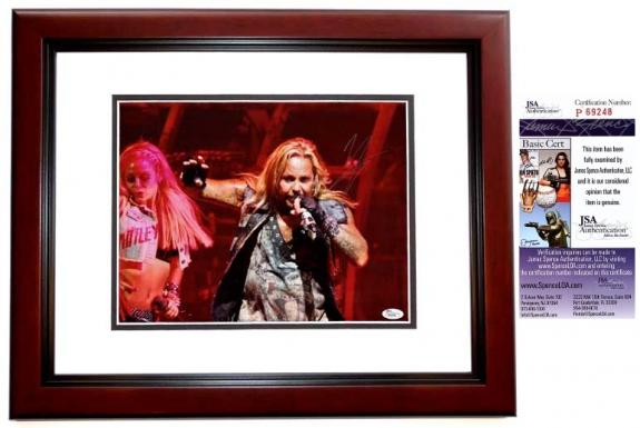 Vince Neil Signed - Autographed Motley Crue Concert 11x14 inch Photo + JSA Certificate of Authenticity
