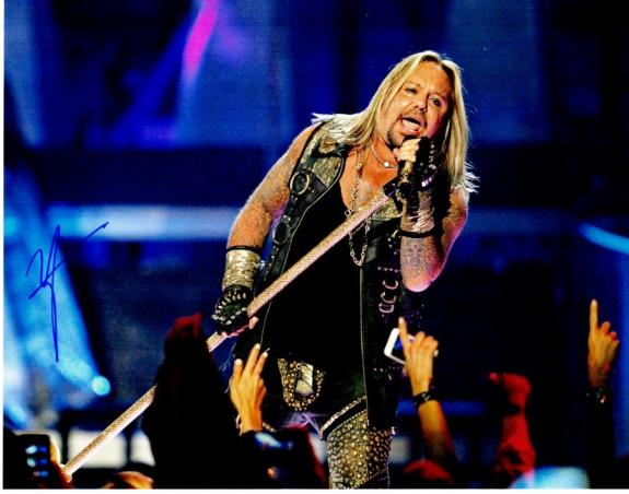Vince Neil Signed - Autographed Motley Crue Singer 11x14 inch Photo - Guaranteed to pass BAS