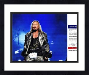 Vince Neil Signed - Autographed Motley Crue Singer 11x14 inch Photo - PSA/DNA Certificate of Authenticity (COA)
