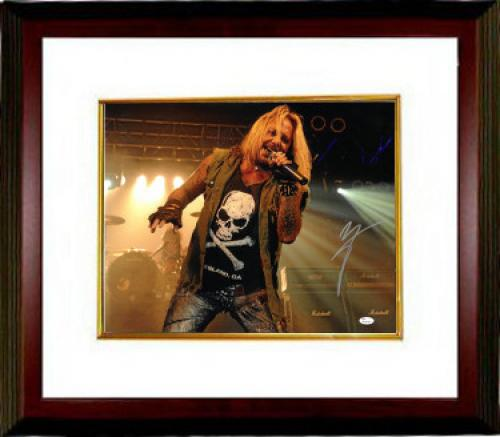 Vince Neil signed Motley Crew 16x20 Photo Custom Framing (silver sig-horizontal)- JSA Hologram (music/entertainment)
