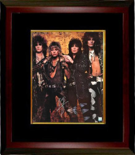Vince Neil signed Motley Crew 16x20 Photo Custom Wood Framing (group pose) (music/entertainment)