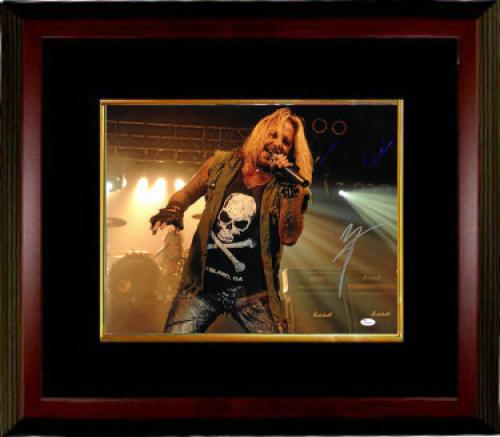 Vince Neil signed Motley Crew 16x20 Photo Custom Wood Framing - JSA Hologram (music/entertainment)