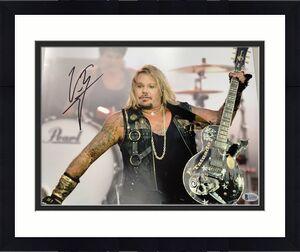 Vince Neil Signed Photo 11x14 Music Hard Rock Motley Crue Autograph PSA/DNA