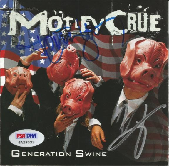 Vince Neil & Tommy Lee MOTLEY CRUE Signed Generation Swine CD Album PSA/DNA COA