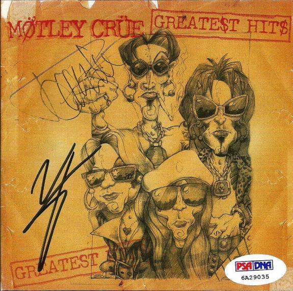 Vince Neil & Tommy Lee MOTLEY CRUE Signed Greatest Hits CD Album PSA/DNA COA
