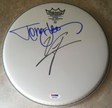 Vince Neil & Tommy Lee MOTLEY CRUE Signed REMO Drumhead Drum Head PSA/DNA COA