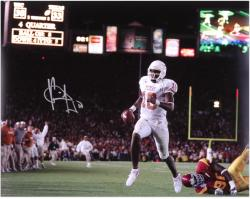 "Vince Young Texas Longhorns Autographed 16"" x 20"" Texas Scoreboard Photograph"