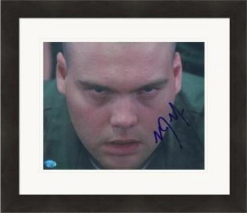 Vincent D Onofrio autographed 8x10 photo (Full Metal Jacket Leonard Gomer Pyle) #SC1 Matted & Framed