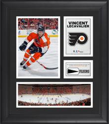 "Vincent Lecavalier Philadelphia Flyers Framed 15"" x 17"" Collage with Piece of Game-Used Puck"
