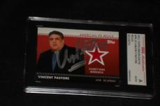 "Vincent Pastore 2011 Topps American Pie Signed Auto Card ""the Sopranos"" Sgc Cert"
