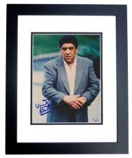 Vincent Pastore Autographed SOPRANOS 8x10 Photo BLACK CUSTOM FRAME