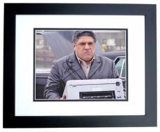 Vincent Pastore Autographed SOPRANOS 8x10 Photo BLACK CUSTOM FRAME