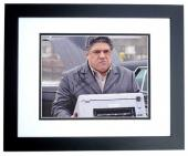 Vincent Pastore Signed - Autographed SOPRANOS 8x10 inch Photo BLACK CUSTOM FRAME - Guaranteed to pass PSA or JSA