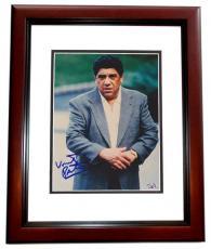 Vincent Pastore Autographed SOPRANOS 8x10 Photo MAHOGANY CUSTOM FRAME