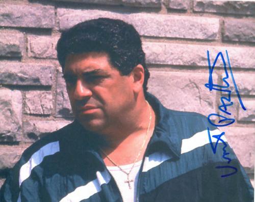 Vincent Pastore Autographed Sopranos Big Pussy Photo UACC RD AFTAL COA