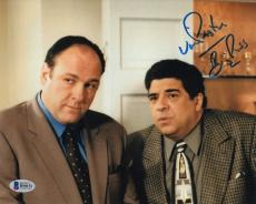 "Vincent Pastore ""Big Puss"" Signed Sopranos 8x10 Photo Beckett BAS #B90151"