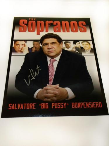 Vincent Pastore signed 11×14 Soprano exclusive photo