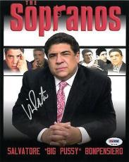Vincent Pastore Signed Sopranos Authentic Autographed 8x10 Photo PSA/DNA #V31698