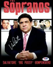 Vincent Pastore Signed Sopranos Authentic Autographed 8X10 Photo PSA/DNA #Y83907