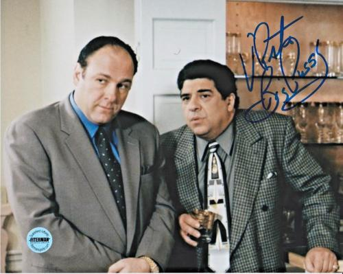 Vincent Pastore Sopranos Signed 8x10 Photo FSG Authenticated 2