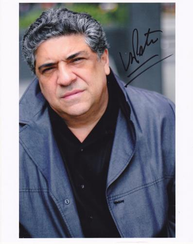 "VINCENT PASTORE  THE SOPRANOS ""BIG PUSSY'   ACTION SIGNED 8x10"