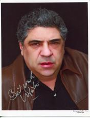 Vincent Pastore The Sopranos Shark Tale Goodfellas Law & Order Signed Auto Photo