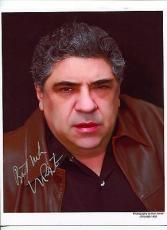 Vincent Pastore The Sopranos Shark Tale Goodfellas Law & Order Signed Autograph