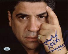 Vincent Pastore The Sopranos Signed 8X10 Photo Autographed BAS #B13097