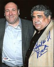 Vincent Pastore The Sopranos Signed 8X10 Photo PSA/DNA #AC17270