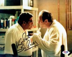 Vincent Pastore w/Gandolfini Signed Big Pussy Autographed 8x10 Photo PSA/DNA COA