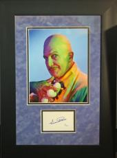 VINCENT PRICE d.1993 (Batman- Egghead) signed/framed photo display-JSA Authentic