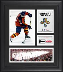 """Vincent Trocheck Florida Panthers Framed 15"""" x 17"""" Collage with Piece of Game-Used Puck"""