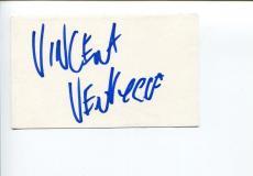 Vincent Ventresca The Invisible Man Twilight Zone Signed Autograph