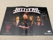 VINNIE PAUL HAND SIGNED 11x17 COLOR POSTER    PANTERA    HELLYEAH   RARE     JSA