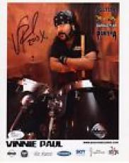 VINNIE PAUL HAND SIGNED 8x10 COLOR PHOTO        PANTERA DRUMMER            JSA